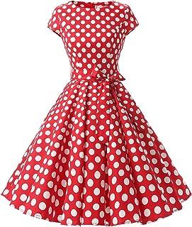 3305fee8746e Dressystar Women Vintage 1950s Retro Rockabilly Prom Dresses Cap-Sleeve