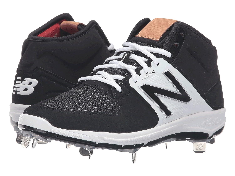 (ニューバランス) New Balance メンズ野球ベースボールシューズ?靴 M3000v3 Black/White 7.5 (25.5cm) D - Medium