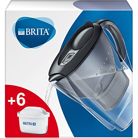 BRITA Carafe filtrante Marella graphite - 6 filtres MAXTRA+ inclus