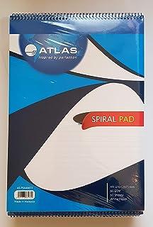 دفتر بسلك لولبي فردي من اطلس (مقاس A4/ 60 غرام لكل متر مربع/60 ورقة) إضمامة ورق واحدة