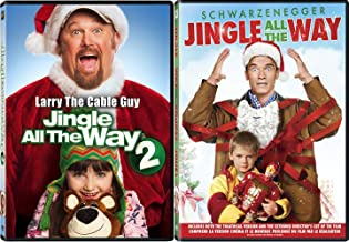 Jingle All The Way 1& 2 Double Feature Holiday Arnold & Larry the Cable Guy Jingle All the Way 2 Christmas Movie