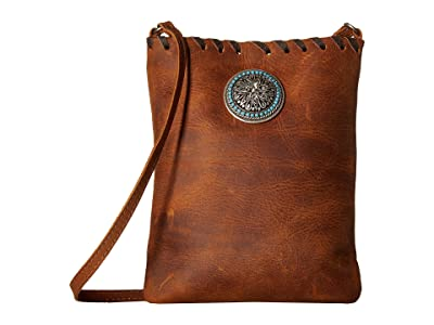Leatherock Della Cell Pouch (Tobacco) Cross Body Handbags