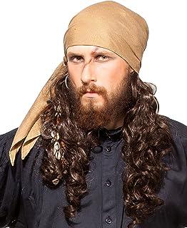 4c04568cd42 ThePirateDressing Pirate Medieval Renaissance Halloween Costume Linen  Triangle Bandana C1418