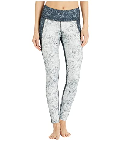 Brooks Threshold Tights (White Marble/Black Marble) Women