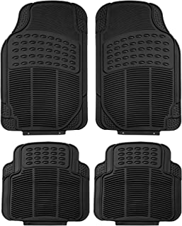 FH Group F11305 Rubber Floor Mats, Black Color-Fit Most Car, Truck, SUV, or Van