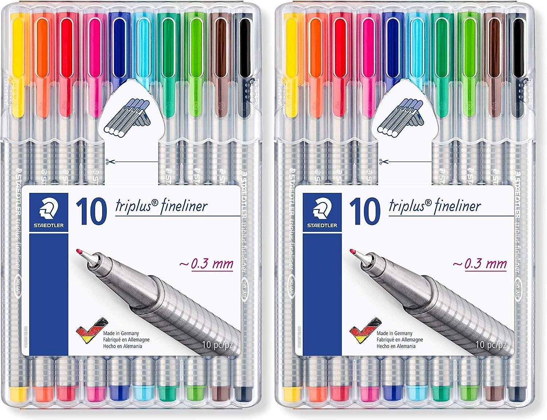 Staedtler Triplus Fineliner 0.3 mm 大好評です Porous Pen - 334 Point SB10 メーカー再生品