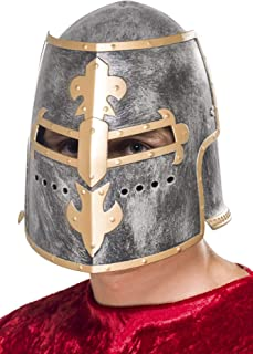 Smiffys Medieval Crusader Helmet Size: One Size