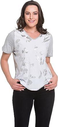 398eca01f9 Tops   Plus Women s Plus Size Silver Petals Top - GREY