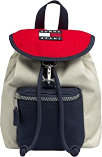 Tommy Jeans Women's Heritage SM Backpack Canvas, Blue - AW0AW08280