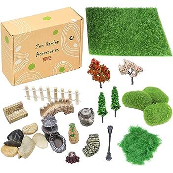 3Pcs Mini Dollhouse Bonsai Craft Garden Ornament For Plant Pots Fairy Garde J4J1