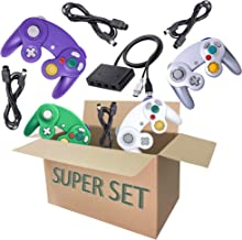 $50 » Gamecube Controller Series Accessories Bundle, Includes 4 Gamecube Controller, 4 Extension Cords and a Gamecube Adapter for Nintendo Wii U/Switch/PC (SGWP)