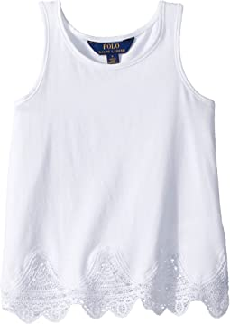 Lace-Trim Jersey Tank Top (Little Kids)