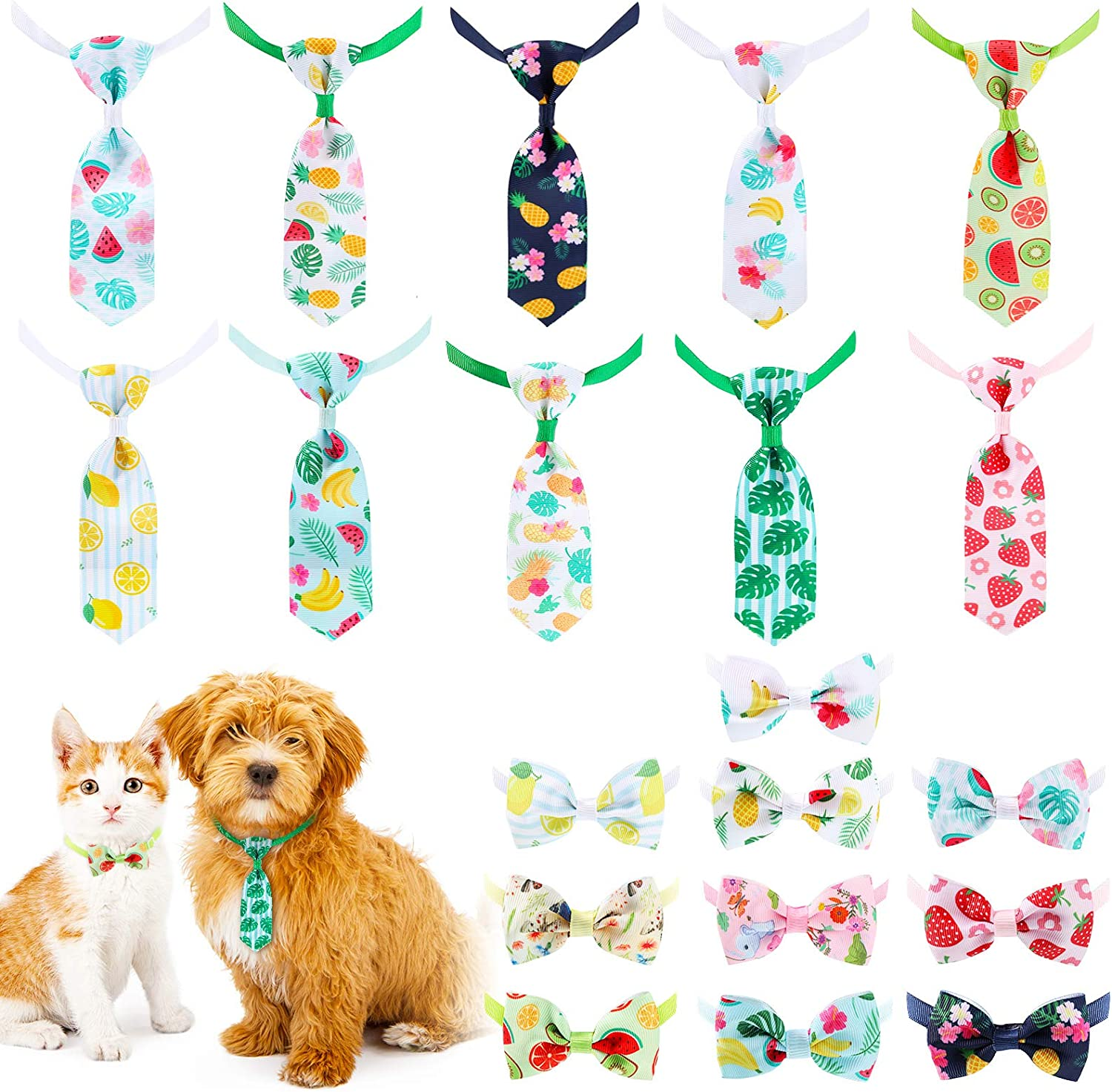 Max 72% OFF 20 New Shipping Free Pieces Dog Ties Cat Bow with Neckties Festival Adjus