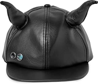 Disney Maleficent Faux Leather Horned Cap for Adults Black…