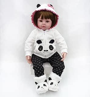 CHAREX 18 Inch Reborn Baby Dolls Lifelike Adorable Girl Doll Soft Silicone Vinyl Toddler Newborn Reborn Doll for Age 3+