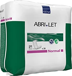 Abena Abri-Let Fluff Incontinence Pads Without Barrier, Normal, 28 Count (Pack of 1)