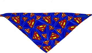 DC Comics Superhero Bandanas for Dogs | Soft Bandanas for Dogs and Puppies in Multiple Sizes | Superman, Batman, Wonder Woman Dog Bandanas