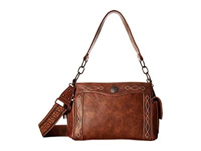 M&F Western Ivy Satchel (Tan) Satchel Handbags