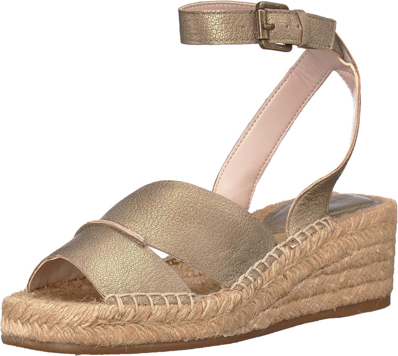 Nine West Womens Edwisha Leather Wedge Sandal
