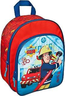 FSTU7601 – Mochila de Sam el bombero, con bolsillo delantero y correas acolchadas, aprox. 31 x 25 x 10 cm