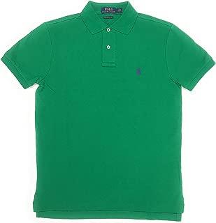 Mens Custom-Fit Mesh Polo Shirt Pony Logo (Small, Stem)