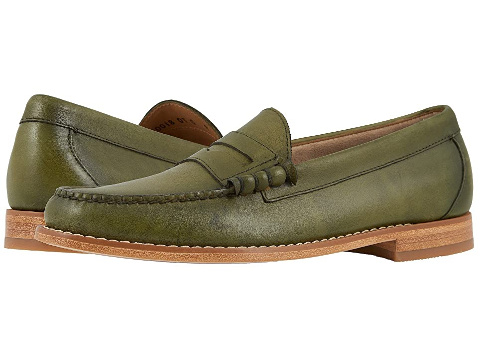 G.H. Bass & Co. Larson Weejuns (Green Hand Finished Full Grain) Men