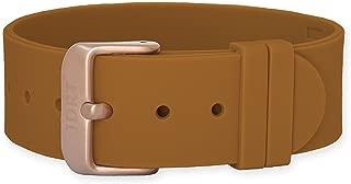 JDRT Watch Strap - Brown Silicone / Matte Rose Buckle