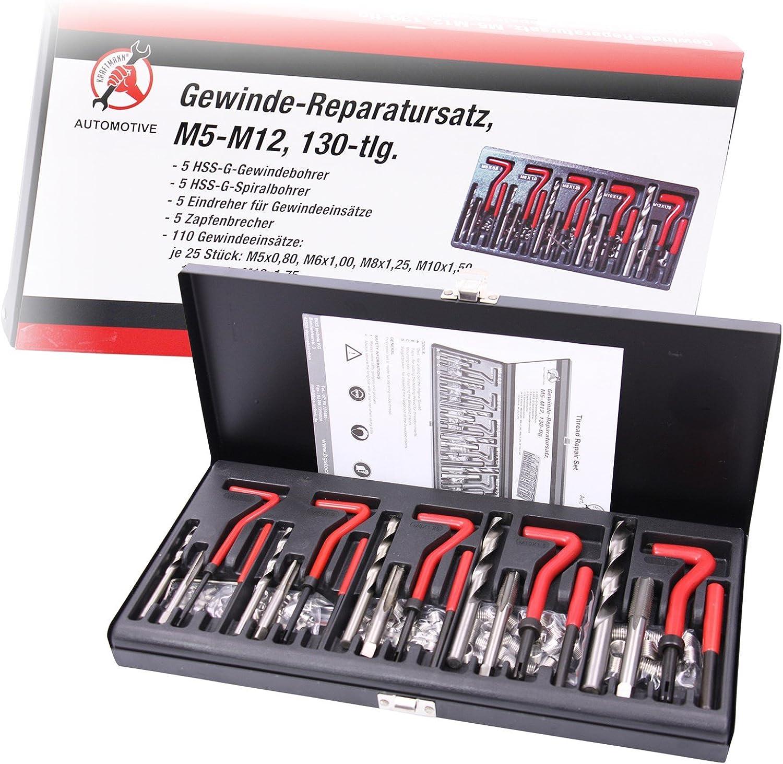 Kraftmann Gewinde Reparatursatz, M5-M12, 130-teilig, 19500 B00FJ38DPW | Authentisch