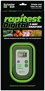 Luster Leaf 1835 Rapitest Dig 3W Analysis, 3-Way Digital Soil Analyzer