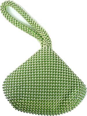 GFM® Damen die kleine weiche körpertasche aus aluminiumperlen. (BP-1) (BP-LHR-lindgrün)