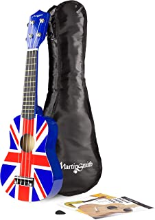Martin Smith UK-222 Soprano Ukulele, Union Jack, With Gig Bag