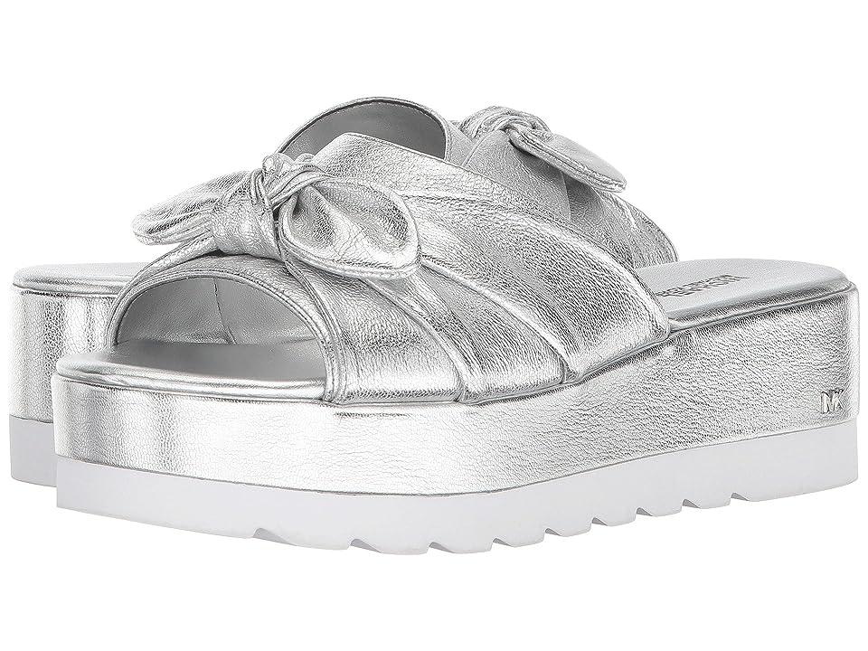 MICHAEL Michael Kors Pippa Slide (Silver Metallic Nappa) Women