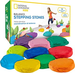 NATIONAL GEOGRAPHIC Balance Stepping Stones - Early Learning & Development For Kids with 10 Soft stones