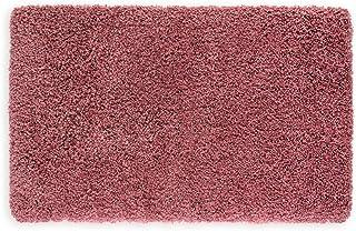 WohnDirect - Alfombra de baño de pelo largo, antideslizante y extra mullida, alfombra de baño, microfibra, Rosa., 50 x 80 cm
