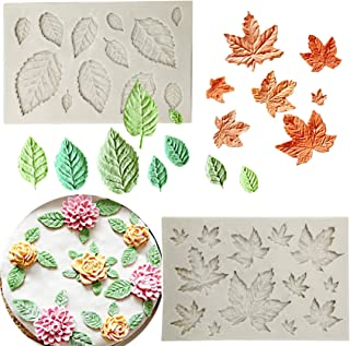 Leaves Mold Polymer Clay Mold Cavity Highly Detailed Mold Leaf Mold Cupcake Mold Woodland Theme 13 Resin Mold Cake Decoration Mold