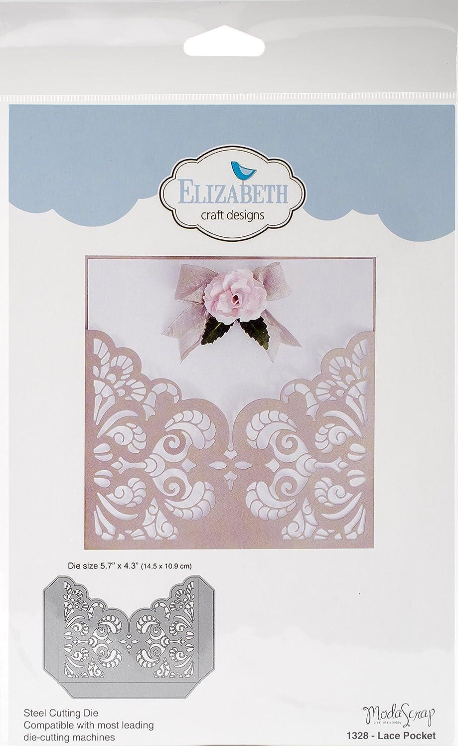 Elizabeth Craft Designs 1328 Metal Die Lace Pocket, 5.7