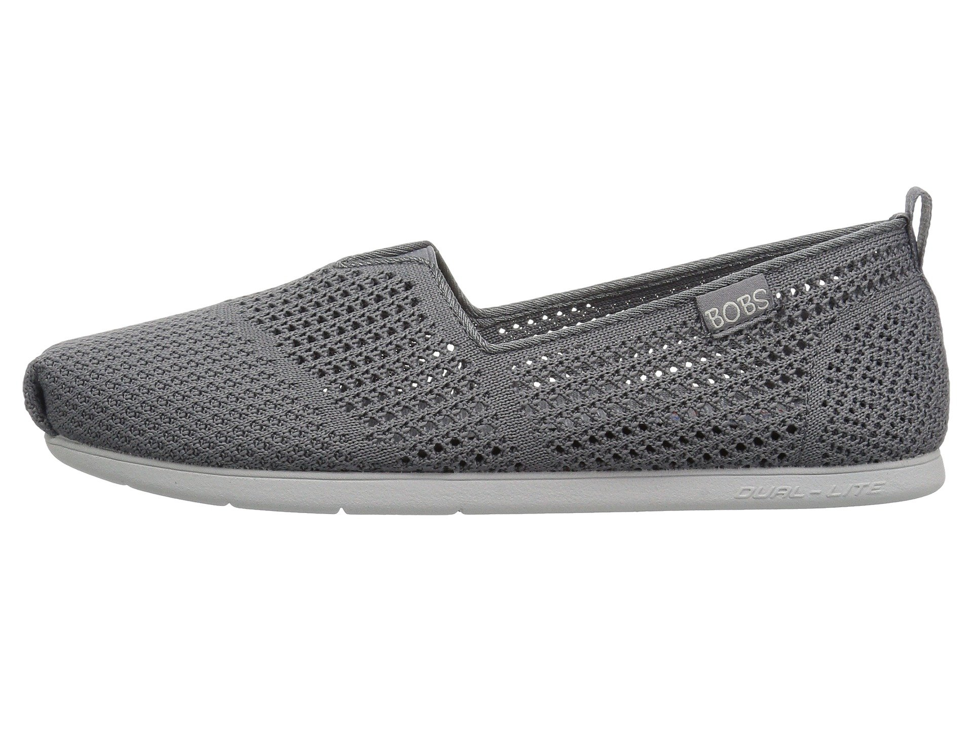 Charcoal Bobs Peek From Skechers Lite Plush wRq46RX