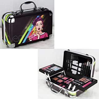 Ver Beauty Ver Beauty 61pcs Makeup Gift Set Kit Train Case Eyeshadow Blush Lipstick Nail Polish With Mirror - Vmk1506