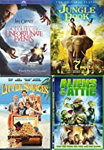 Adventure Treasure Boys Night: Little Savages & Jungle Book Original / Lemony Snicket's Series of Unfortunate Events + Aliens in the Attic Bonus 7 Movies Little Heroes / Africa Express / Ghost Ship