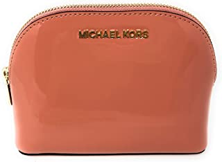 9fd784909fa4bb Michael Kors Jet Set Travel Patent Leather Cosmetic Travel Pouch in Peach