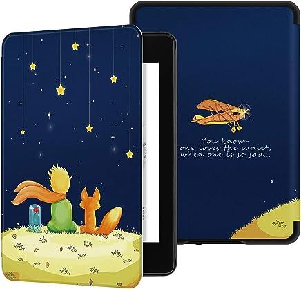 PUBAMALL Funda para Kindle Paperwhite (10.ª generación - Modelo de 2018), con la función Auto Sleep Wake, para Kindle Paperwhite (10.ª generación - Modelo de 2018) (Niño y Zorro)