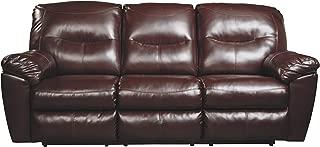 Ashley Furniture Signature Design - Kilzer DuraBlend Reclining Sofa - Contemporary Reclining Couch - Mahogany