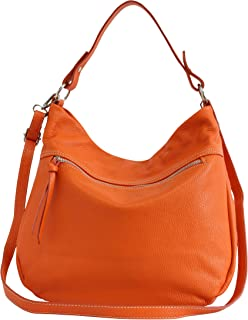 AmbraModa Damen Leder handtasche schultertasche Umhängetasche Beuteltasche GL031