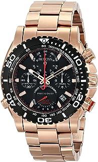 Bulova Men's 98B213 Analog Display Japanese Quartz Rose Gold Watch