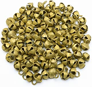 AzKrafts Lot 100 Pcs Vintage Style Indian Brass Horse Sheep Camel Sleigh Bells 15Mm Ht