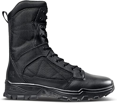 5.11 Men's Fast-Tac 8  Military and Tactical botas, negro, 7.5 Wide US