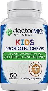 Kids Probiotics Chewable by Doctor MK's®, Sugar Free, Tastes Like Candy, Natural Wild Berry Tablets, Vegetarian / Vegan