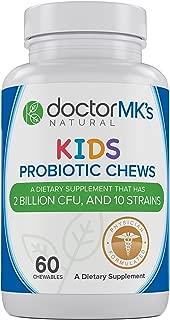 Kids Probiotics Chewable by Doctor MK's®, Sugar Free, Tastes Like Candy, Natural Wild Berry Tablets, Vegetarian/Vegan