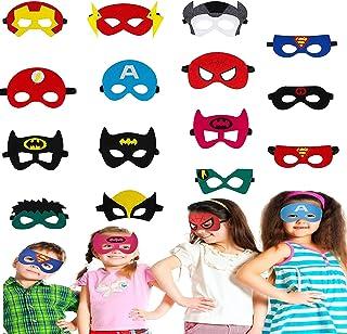 SouthStar Masques de Super-Héros, 15 PiècesMasques de Déguisement pour Enfants, Masques de Super-Héros Cosplay Parfaits p...