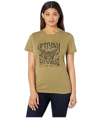 Life is Good Optimism Cool Teetm (Fatigue Green) Women